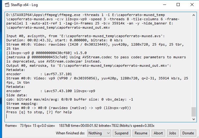 vp9 encoding staxrip