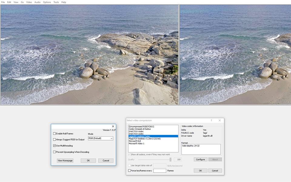 virtualdub h265 phantom 4 pro