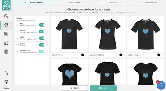 come creare negozio magliette wordpress