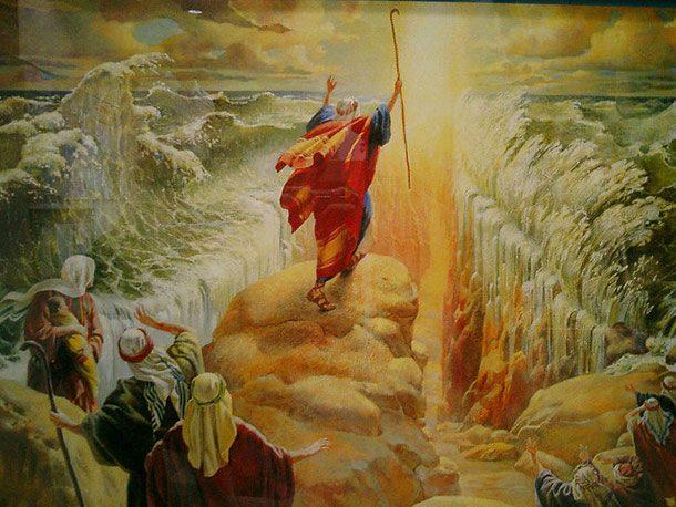 divisione delle acque del mar rosso